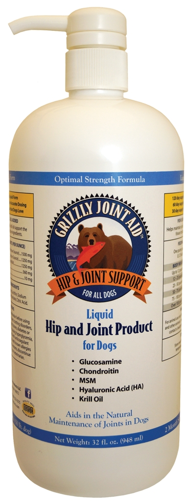 Grizzly Joint Aid for Dogs Liquid 32 fl oz