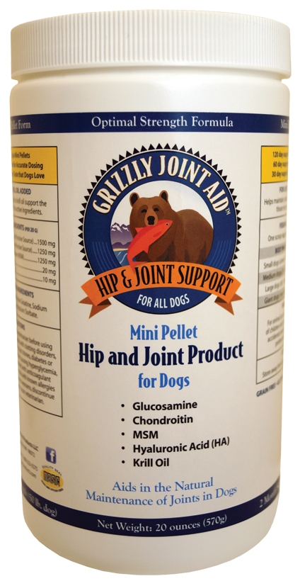 Grizzly Joint Aid for Dogs Mini Pellets 20 oz