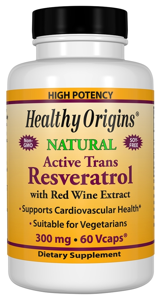 Resveratrol 300 mg 60 Vcaps by Healthy Origins
