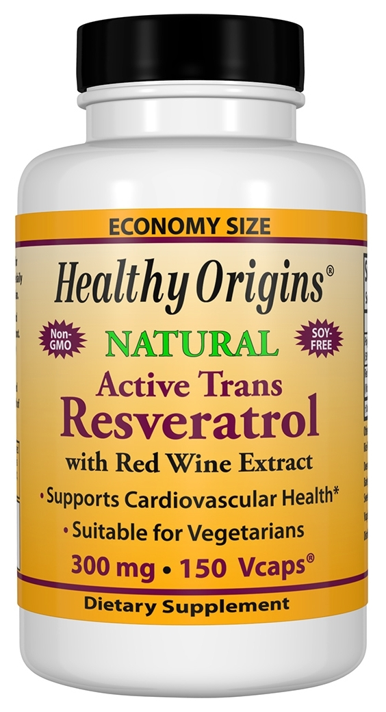 Resveratrol 300 mg 150 Vcaps by Healthy Origins