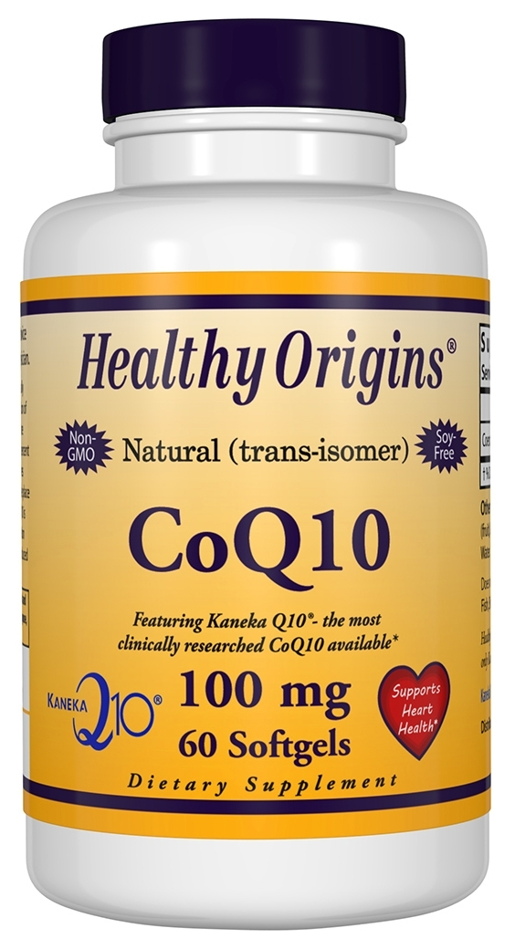 CoQ10 Gels 100 mg 60 sgels by Healthy Origins