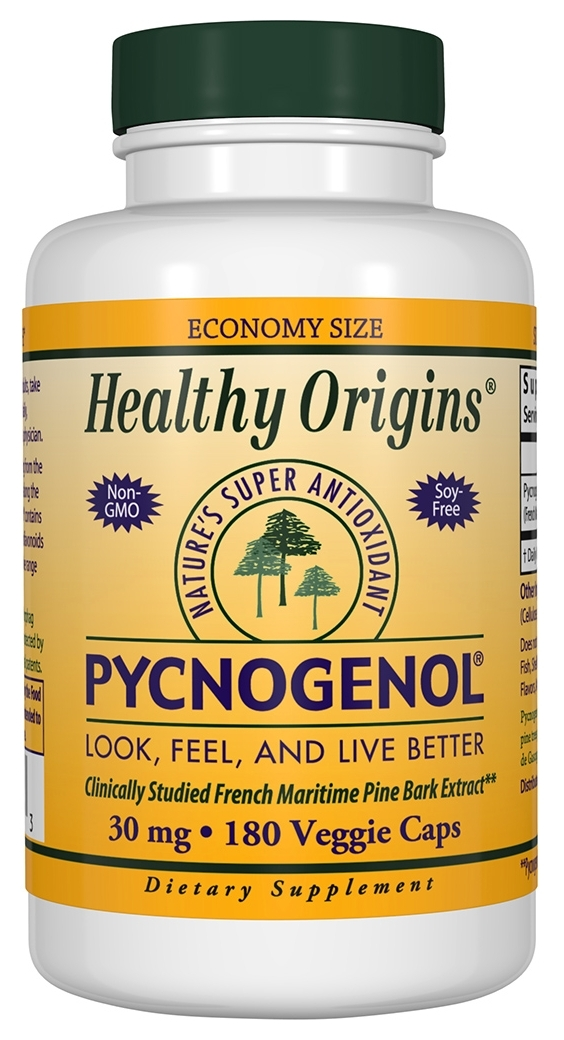 Pycnogenol 30 mg 180 Veggie Caps by Healthy Origins