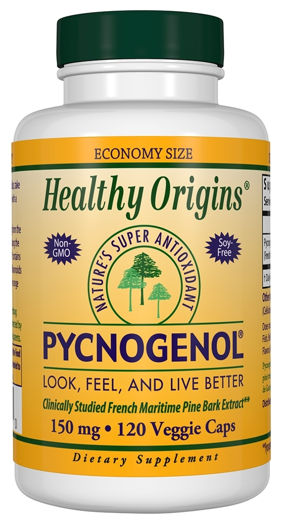 Pycnogenol 150 mg 120 Vcaps by Healthy Origins
