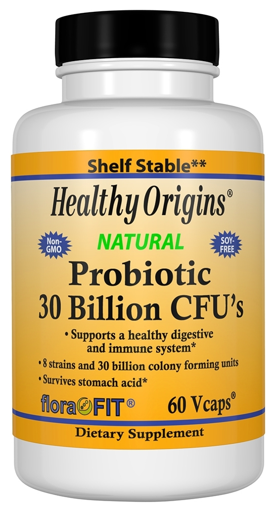 Probiotic 30 Billion CFU's 60 Vcaps by Healthy Origins