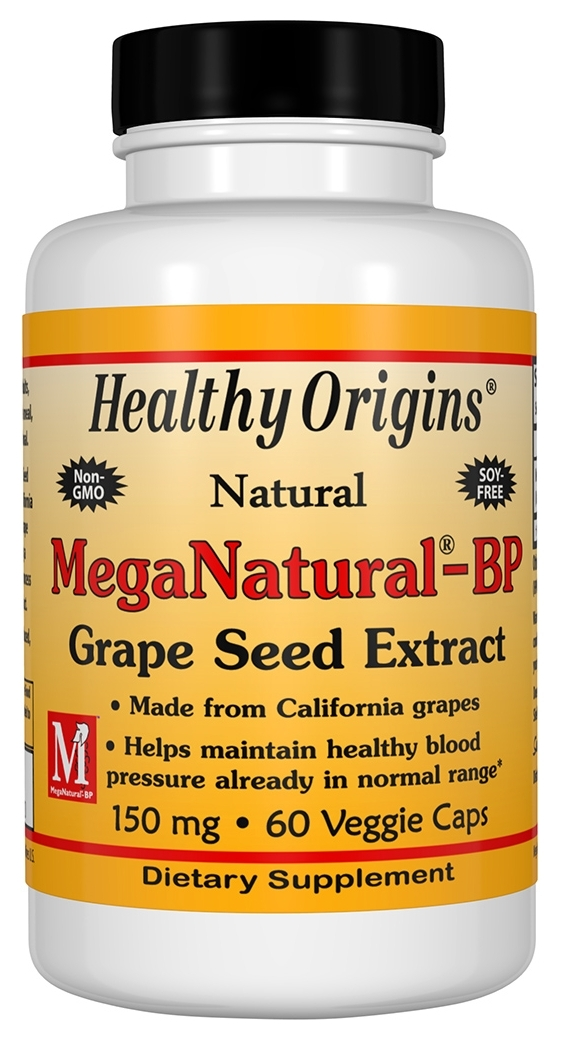 MegaNatural-BP Grape Seed Extract 150 mg 60 caps by Healthy Origins