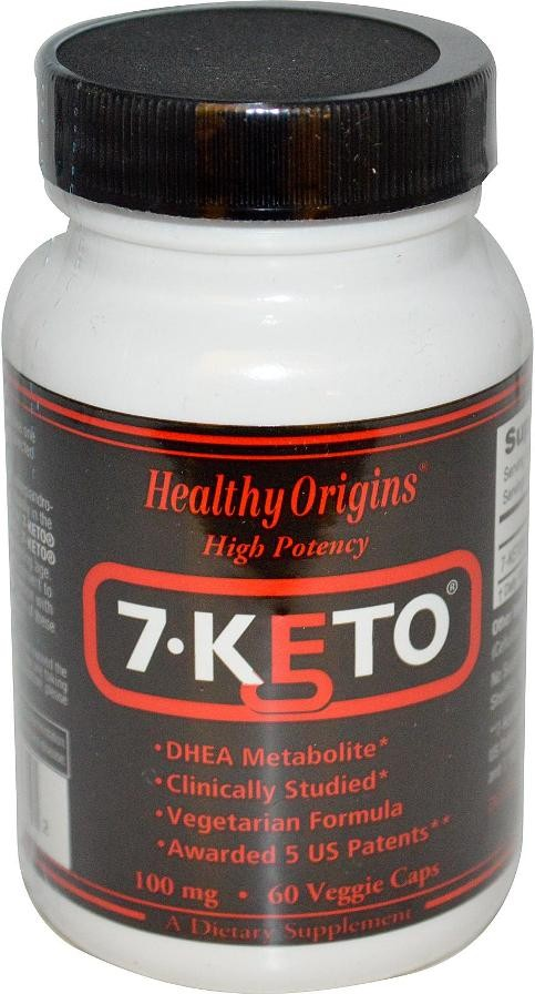 7-Keto 100 mg 60 Veggie Caps by Healthy Origins