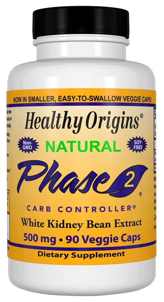 Phase 2 White Kidney Bean Extract 500 mg 90 caps by Healthy Origins