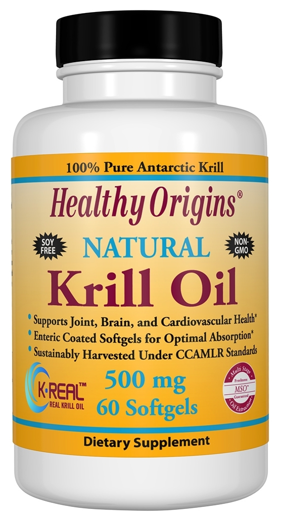Krill Oil 500 mg 60 Enteric Coated sgels by Healthy Origins