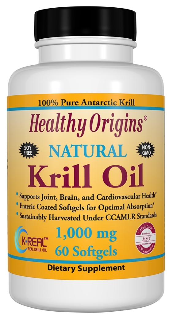 Krill Oil 1,000 mg 60 Enteric Coated sgels by Healthy Origins