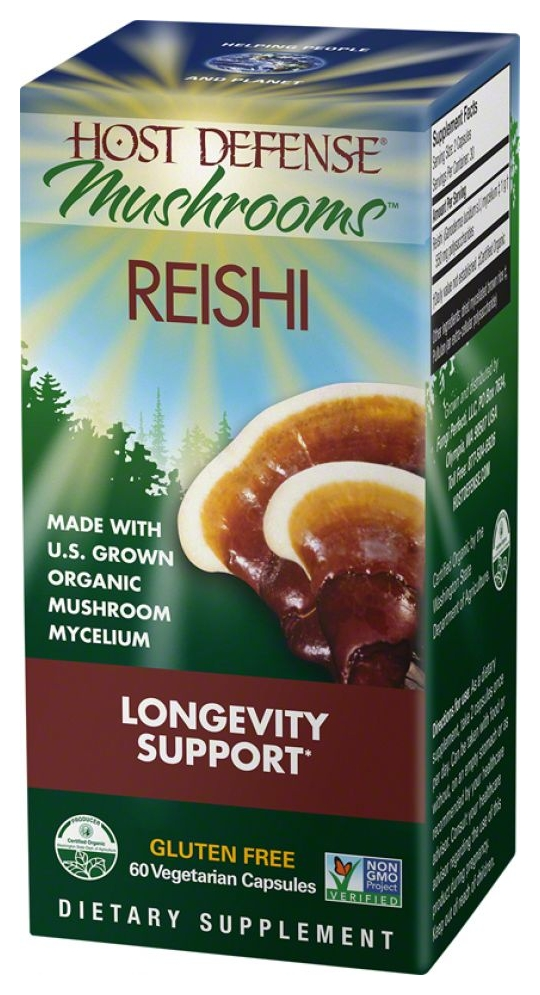 Host Defense Reishi 60 Vegetarian Caps by Fungi Perfecti