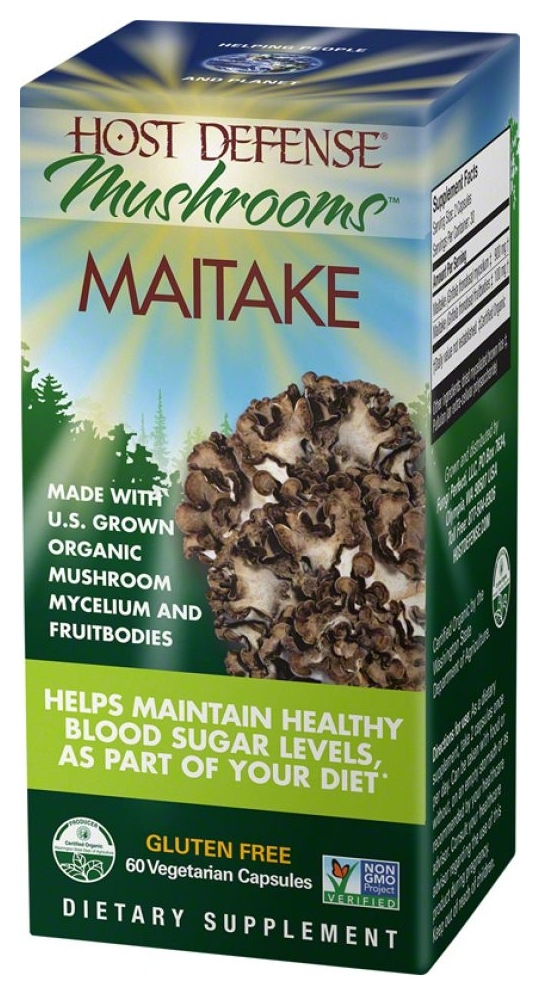 Host Defense Maitake 120 Vegetarian Caps by Fungi Perfecti