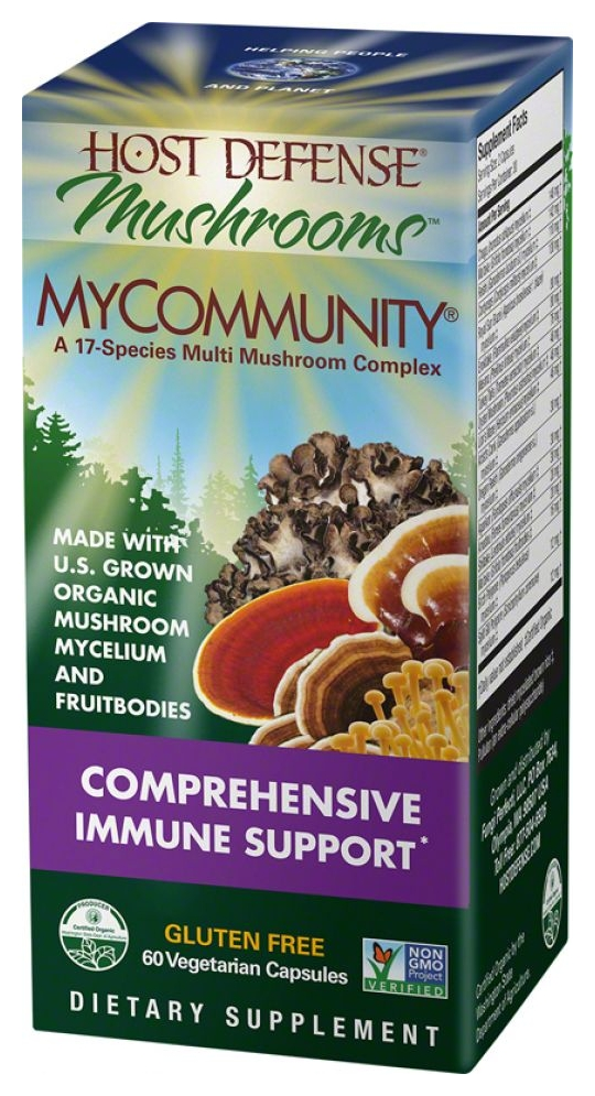 Host Defense MyCommunity 120 Vegetarian Caps by Fungi Perfecti