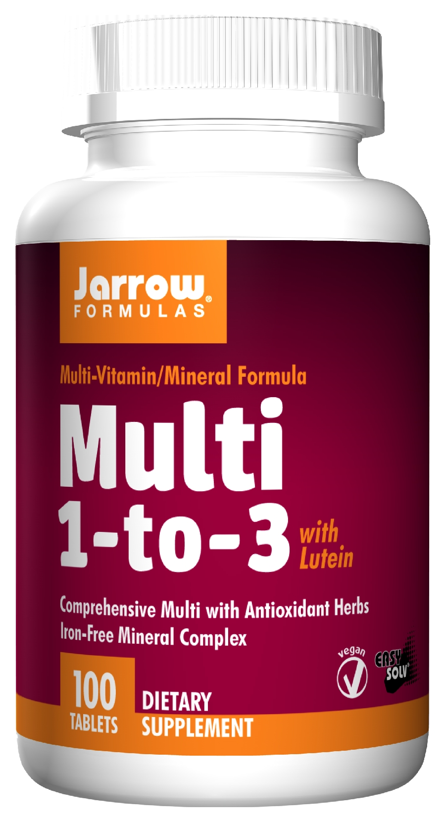 Multi 1-to-3 with Lutein 100 Easy-Solv tabs by Jarrow Formulas