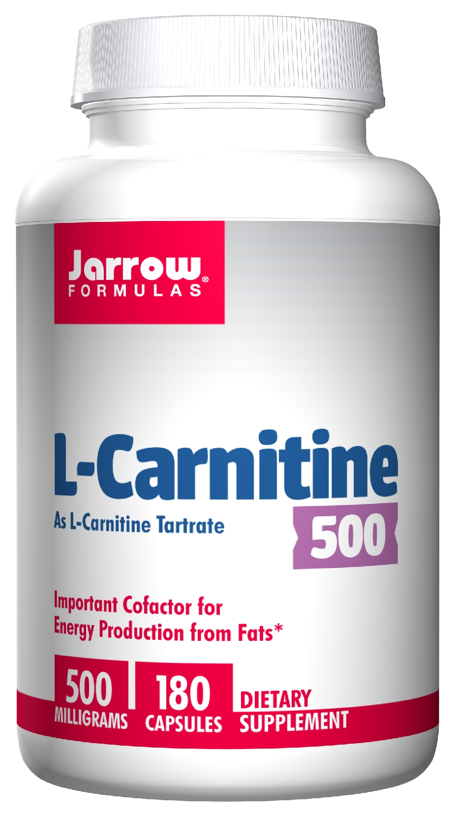 L-Carnitine 500 500 mg 180 Vegetarian caps by Jarrow Formulas