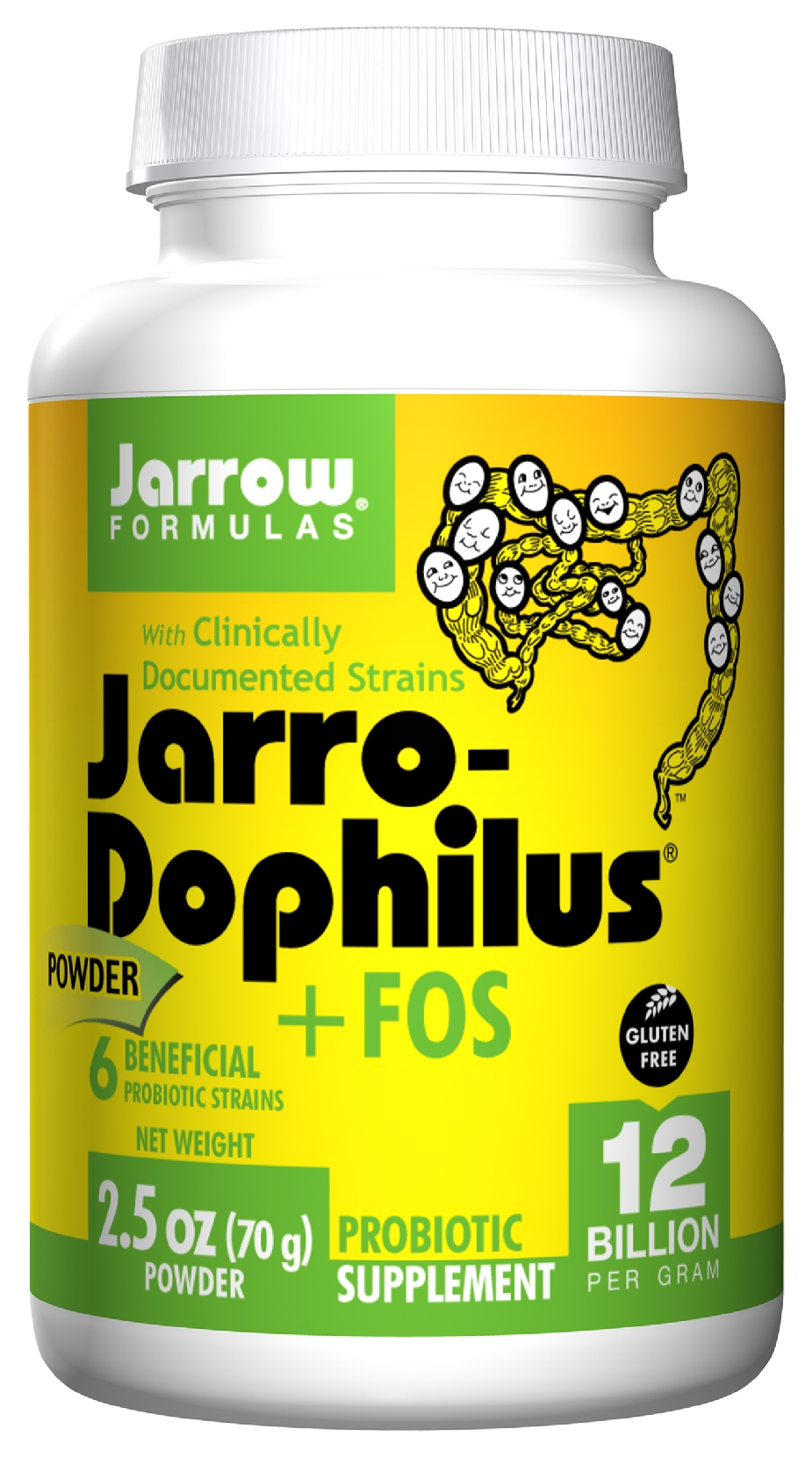 Jarro-Dophilus + FOS Powder 2.5 oz (70 g) by Jarrow Formulas