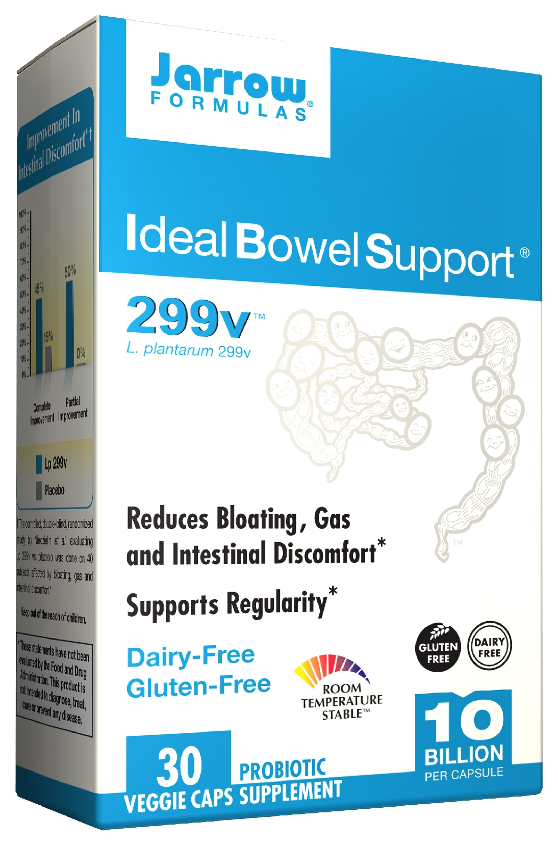 Ideal Bowel Support 299v 30 Vegetarian caps by Jarrow Formulas