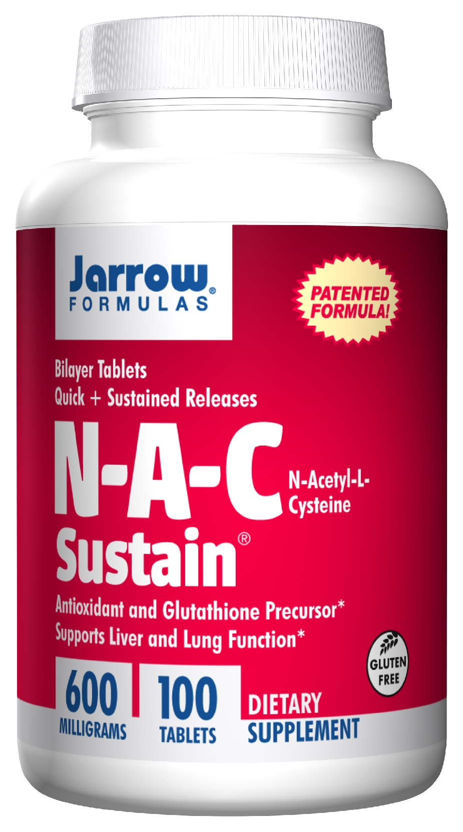 N-A-C Sustain 600 mg 100 Bilayer tabs by Jarrow Formulas