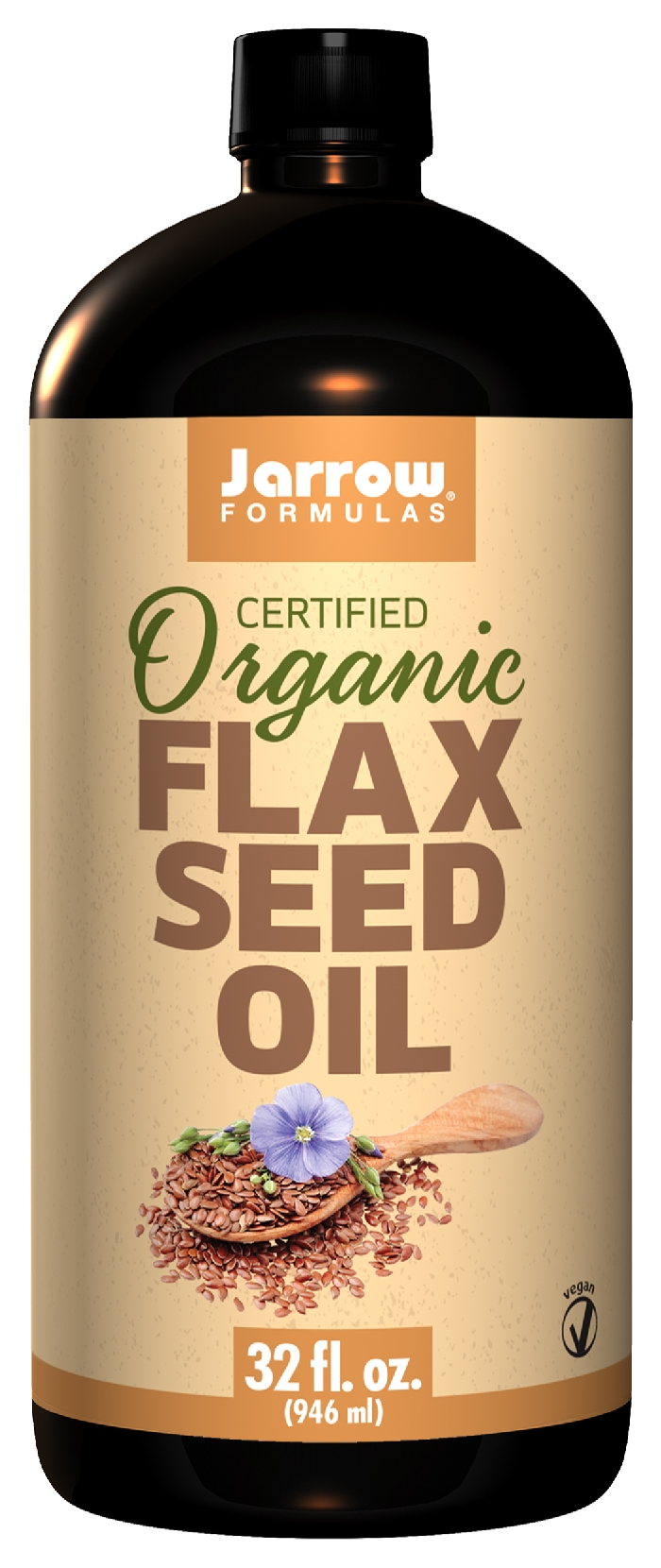 Flax Seed Oil 32 fl oz (946 ml) by Jarrow Formulas