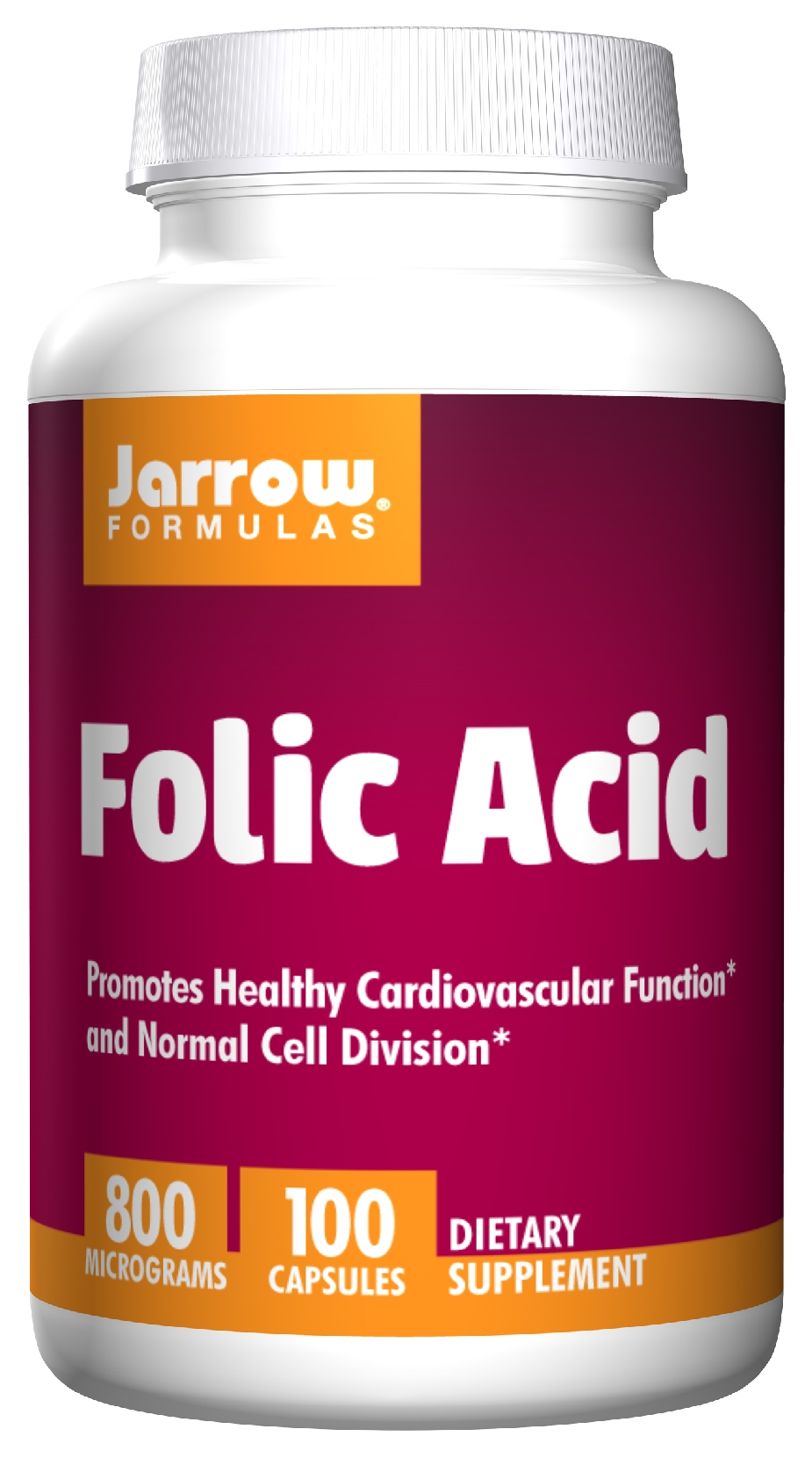 Folic Acid 800 mcg 100 caps by Jarrow Formulas
