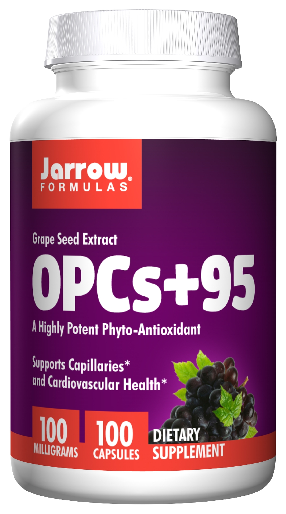 OPCs + 95 Grape Seed Extract 100 mg 100 caps by Jarrow Formulas