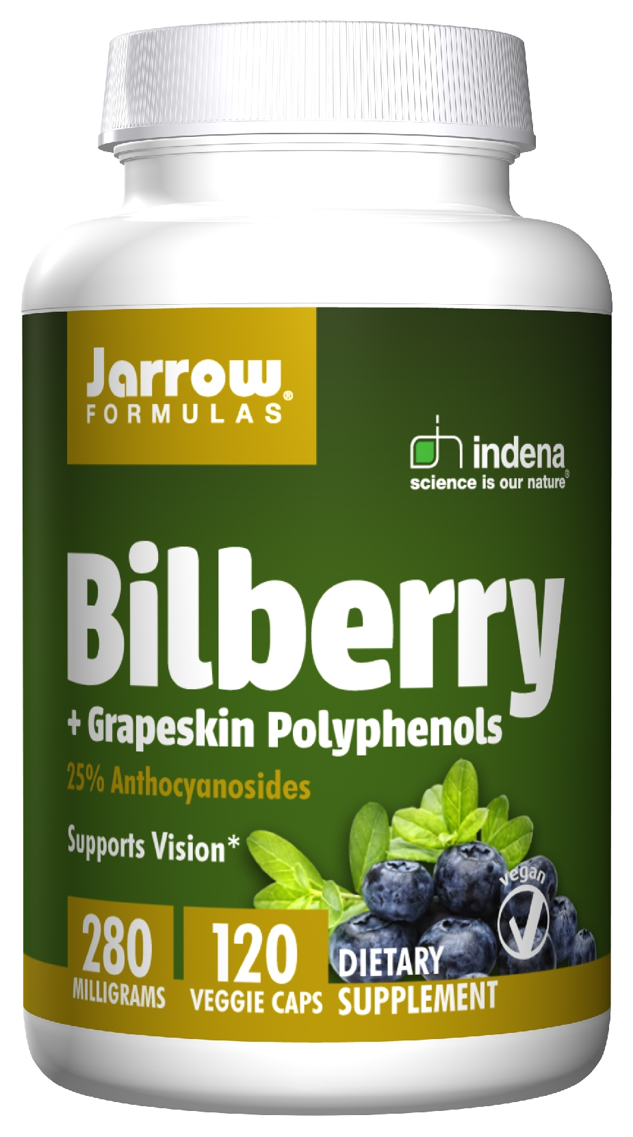 Bilberry + Grapeskin Polyphenols 280 mg 120 Vegetarian caps by Jarrow Formulas