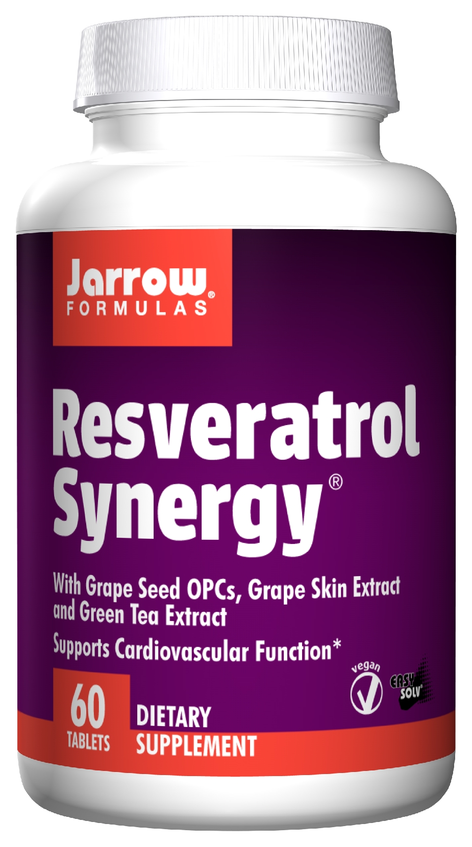 Resveratrol Synergy 60 Easy-Solv tabs by Jarrow Formulas