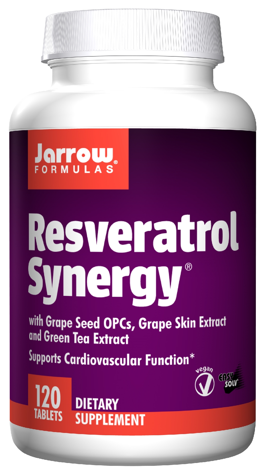 Resveratrol Synergy 120 Easy-Solv tabs by Jarrow Formulas