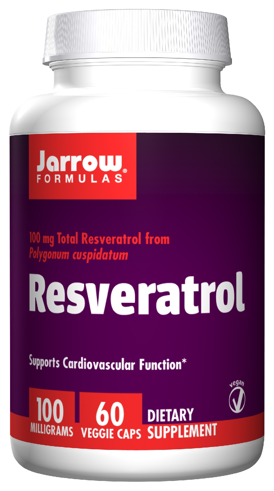 Resveratrol 100 60 Vegetarian caps by Jarrow Formulas