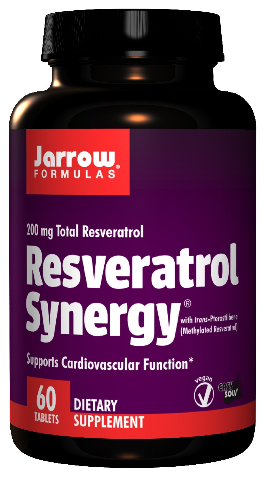 Resveratrol Synergy 200 60 Easy-Solv tabs by Jarrow Formulas