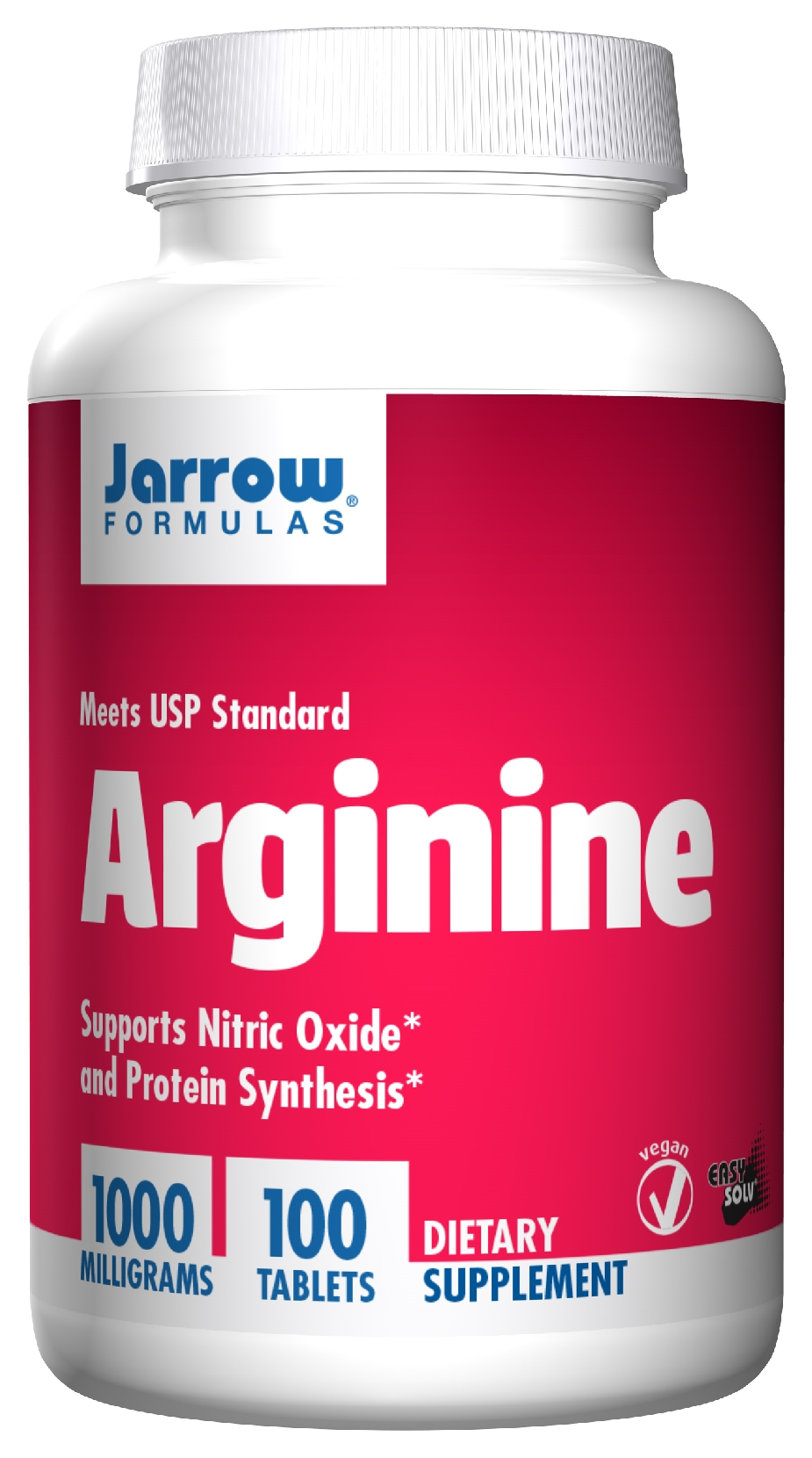Arginine 1000 mg 100 Easy-Solv tabs by Jarrow Formulas
