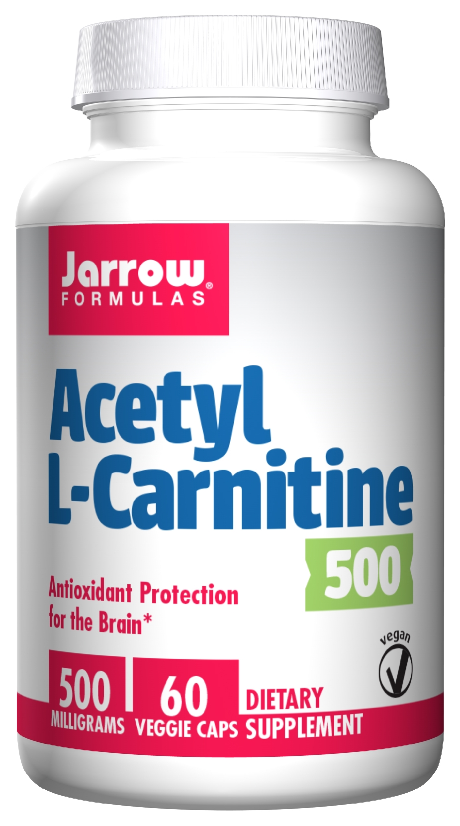 Acetyl L-Carnitine 500 mg 60 Vegetarian caps by Jarrow Formulas