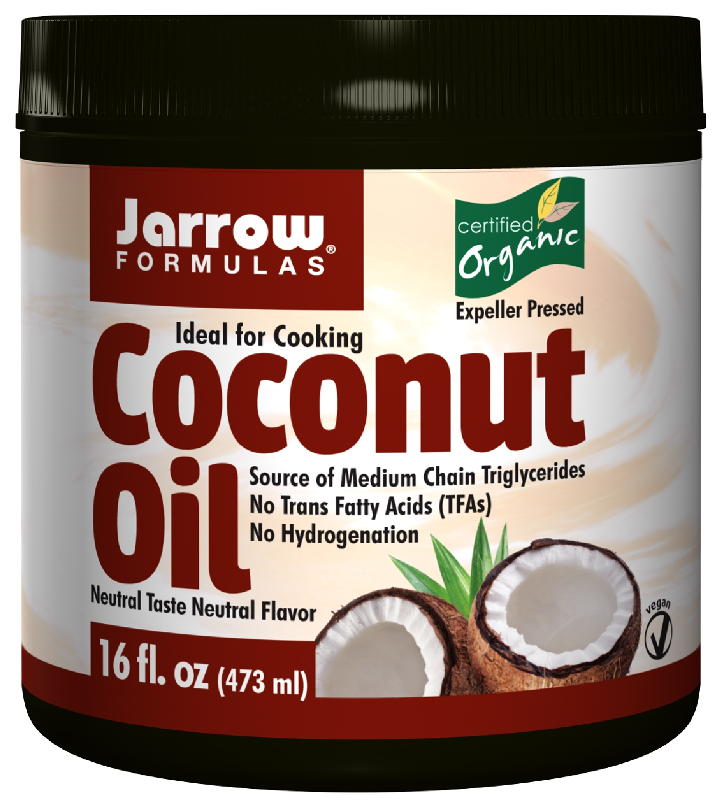 Coconut Oil Organic 16 oz (454 g) by Jarrow Formulas