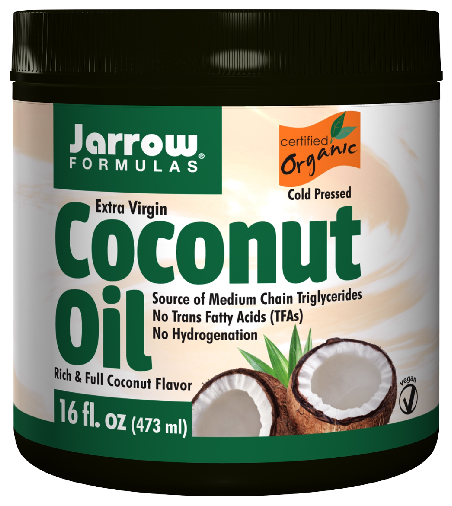 Extra Virgin Coconut Oil 16 oz (454 g) by Jarrow Formulas