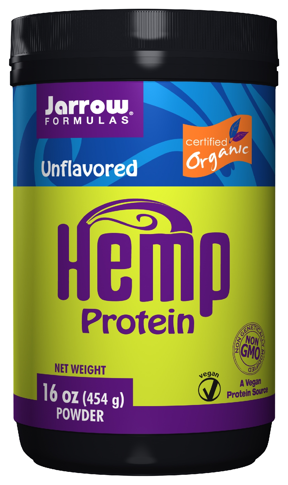 Hemp Protein Organic 16 oz (454 g) by Jarrow Formulas