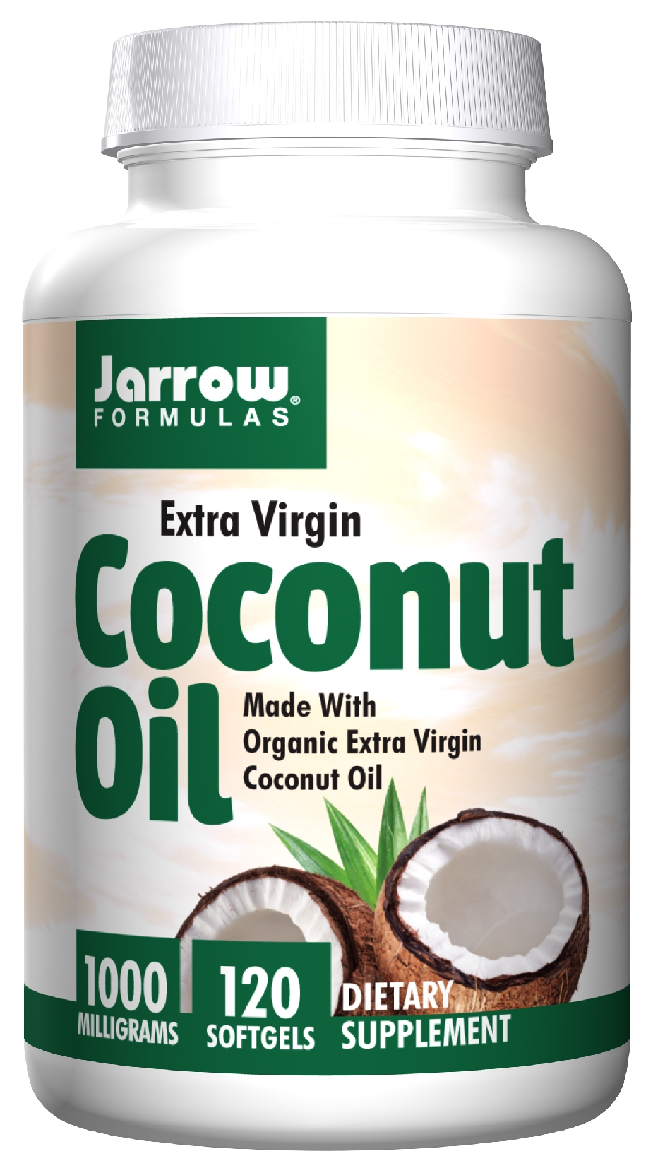 Extra Virgin Coconut Oil 1000 mg 120 sgels by Jarrow Formulas