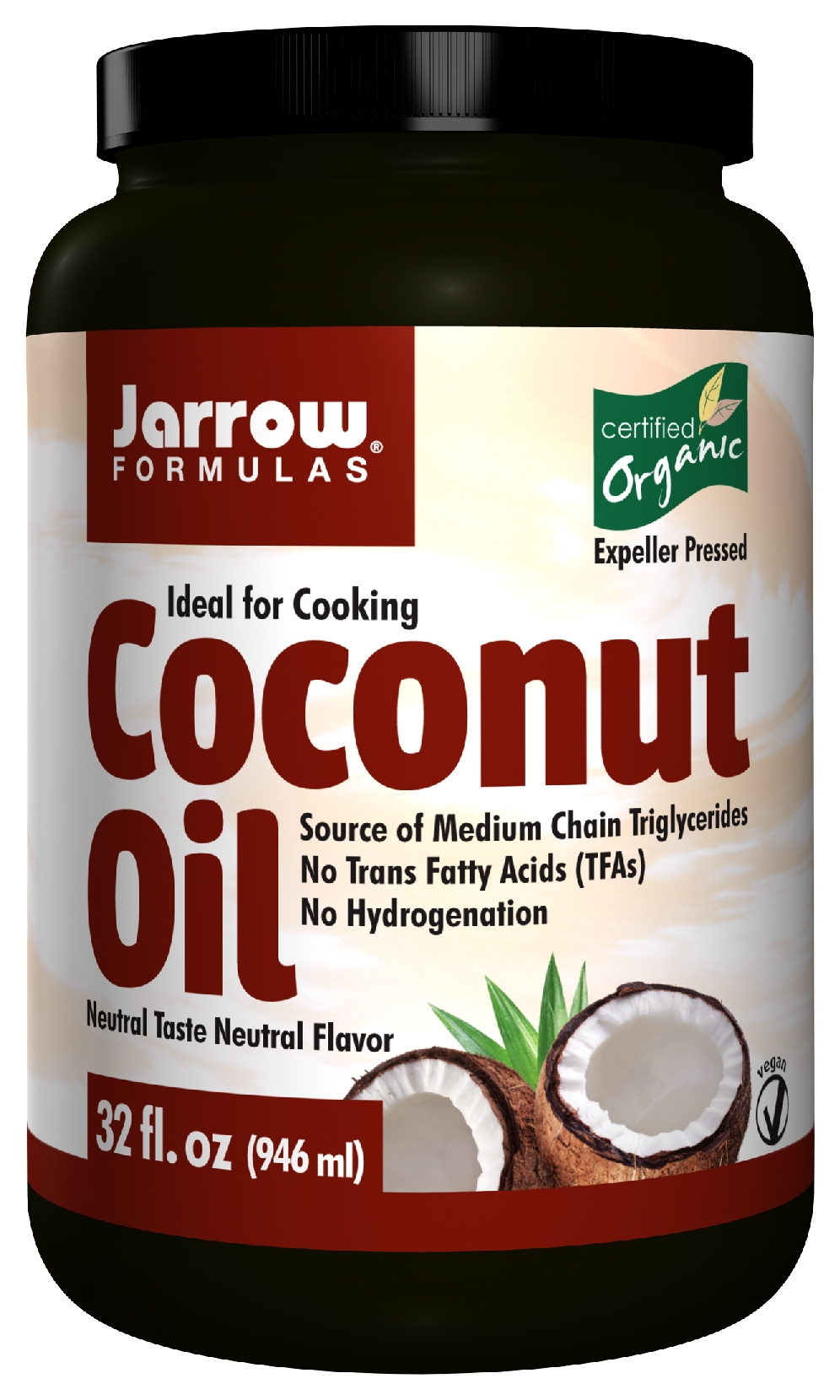 Coconut Oil Organic 32 oz (908 g) by Jarrow Formulas