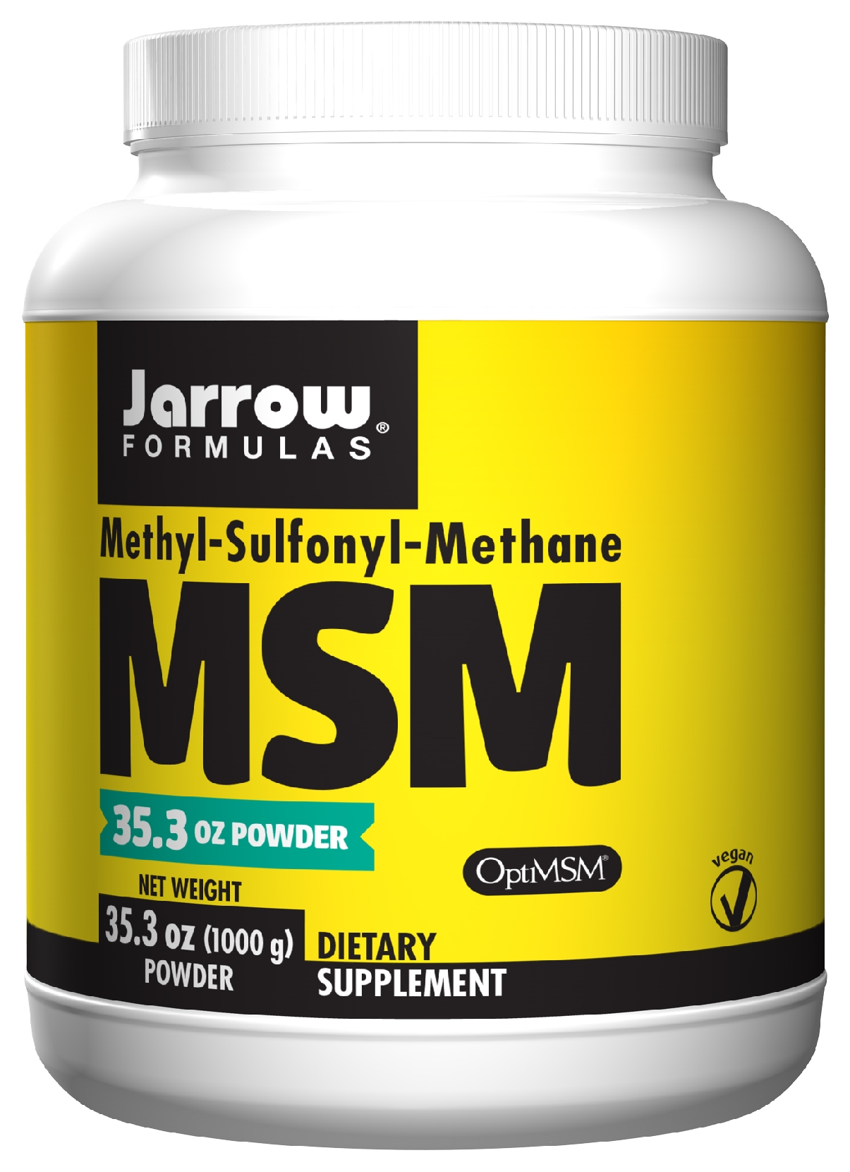 MSM Sulfur Powder 35.3 oz (2.2 lb) 1 kg by Jarrow Formulas