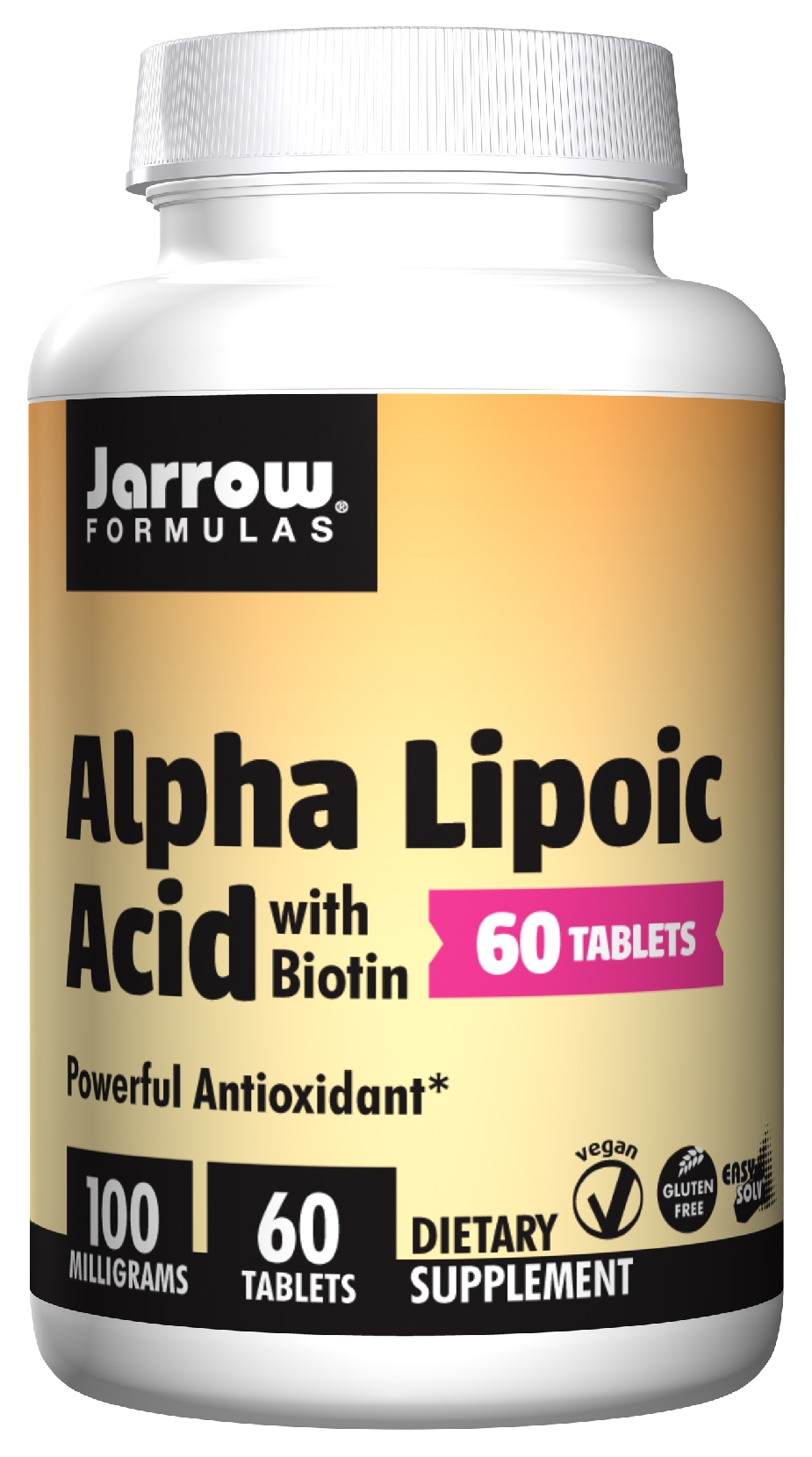 Alpha Lipoic Acid 100 mg 60 Easy-Solv tabs by Jarrow Formulas