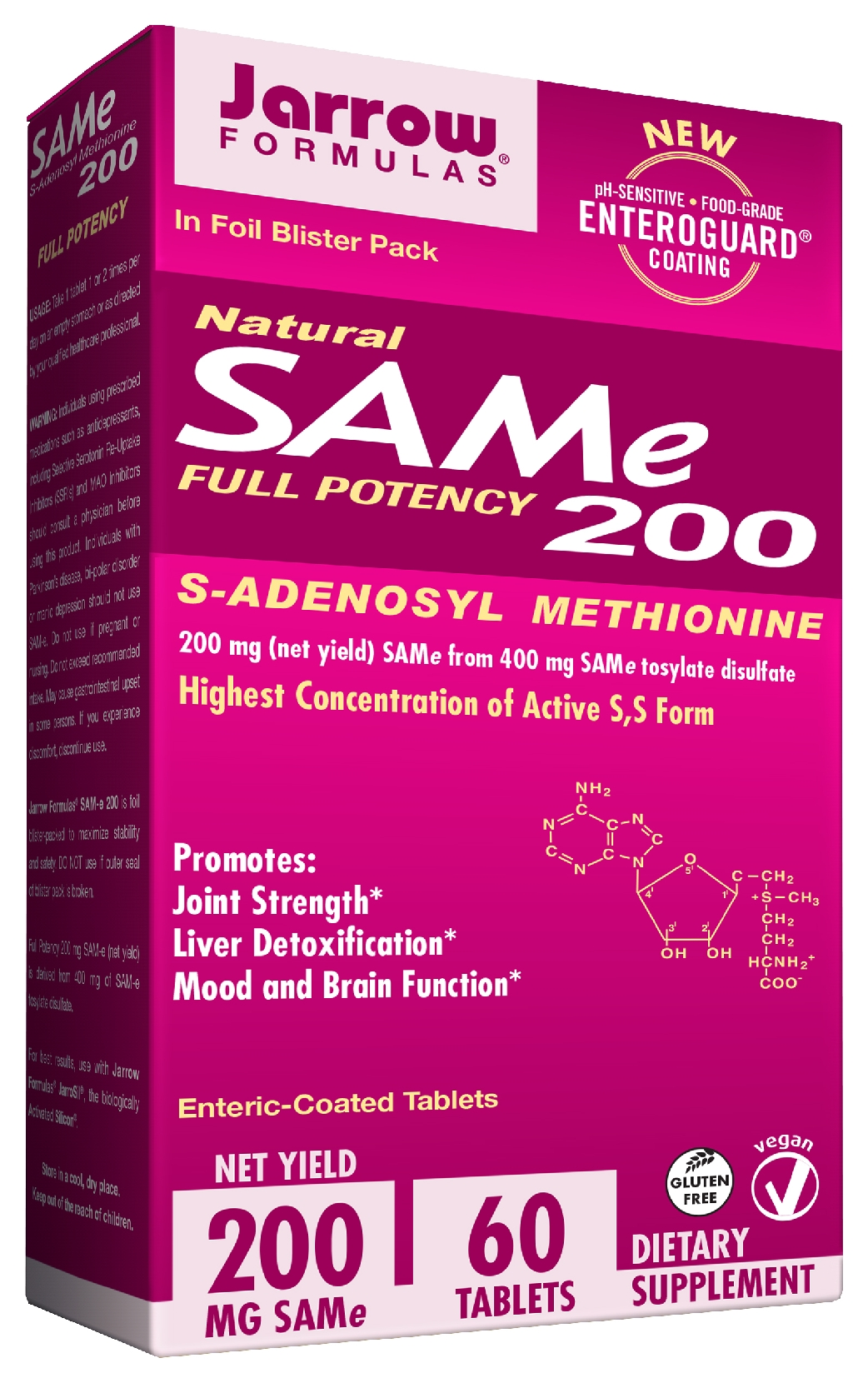SAM-e 200 200 mg 60 Enteric-Coated tabs by Jarrow Formulas