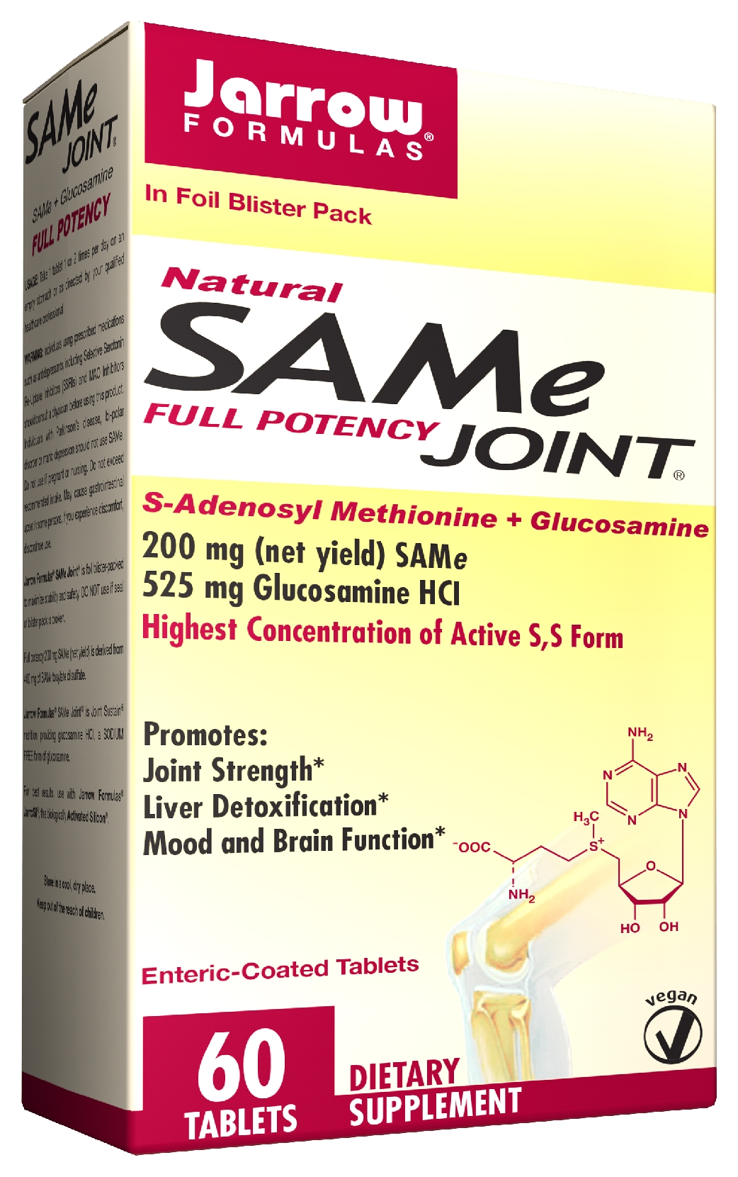 SAM-e Joint 60 Enteric Coated tabs by Jarrow Formulas