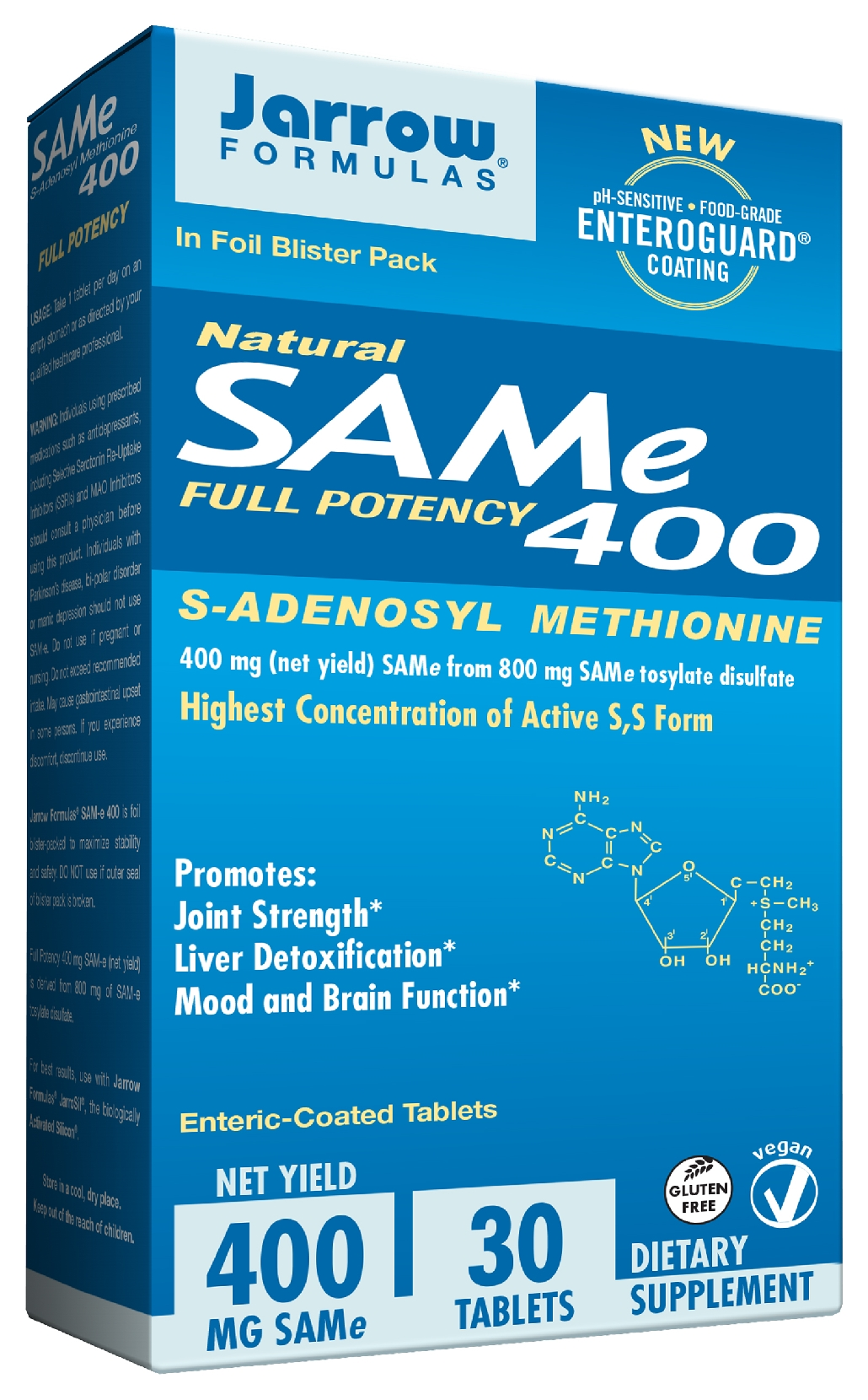 SAM-e 400 400 mg 30 Enteric-Coated tabs by Jarrow Formulas