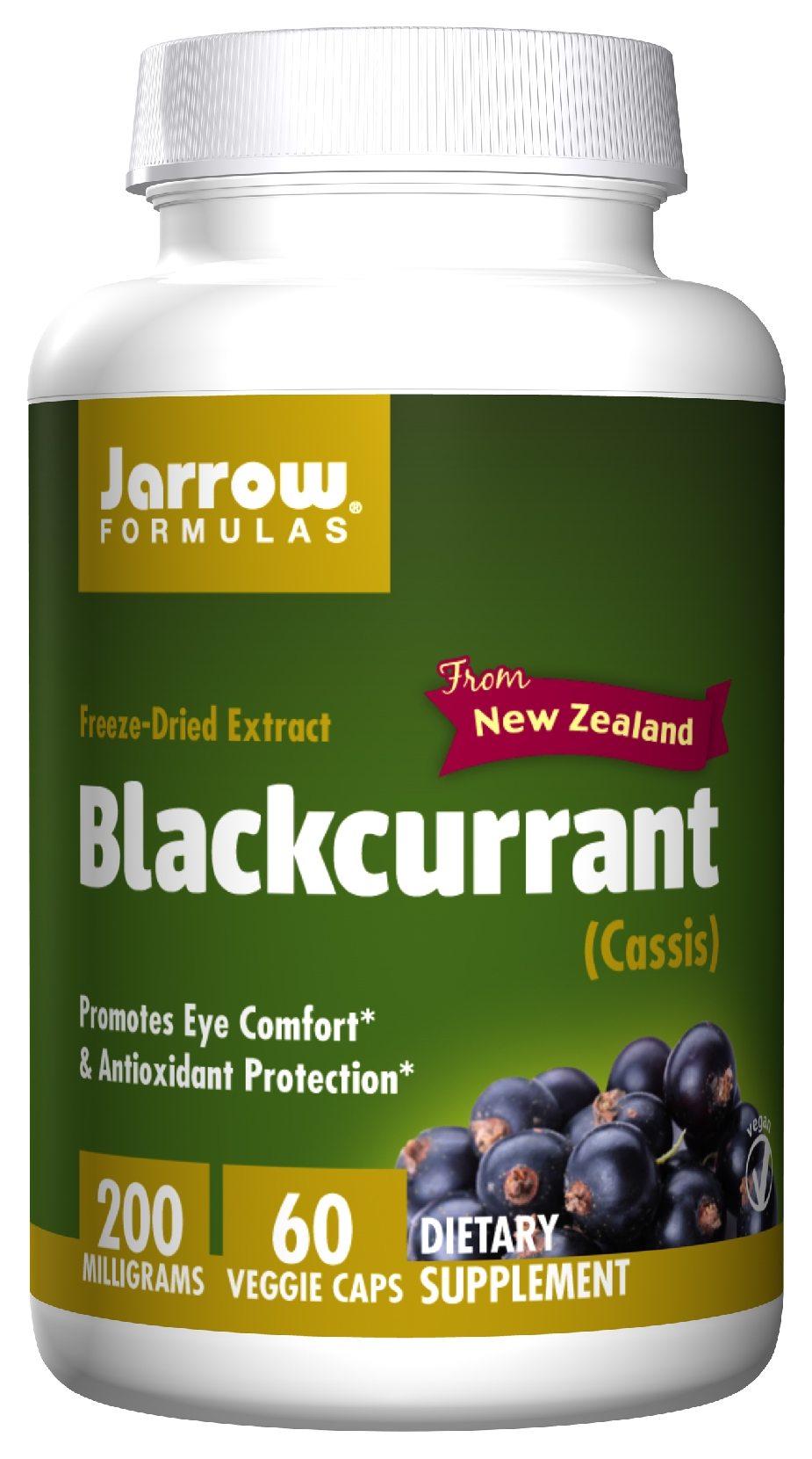 Blackcurrant 60 Vegetarian caps by Jarrow Formulas (expires 09/2015)