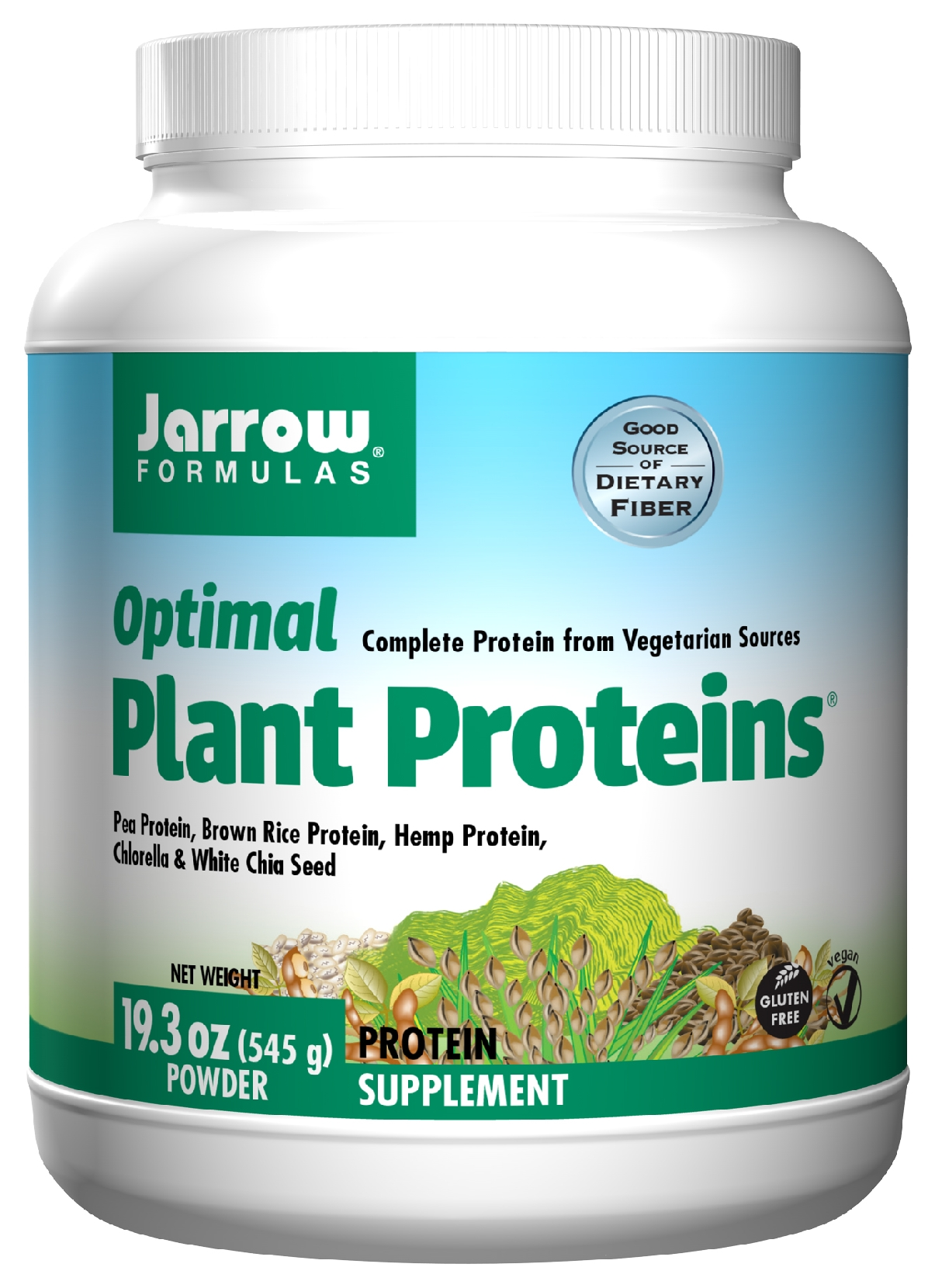 Optimal Plant Proteins 19 oz (540 g) by Jarrow Formulas