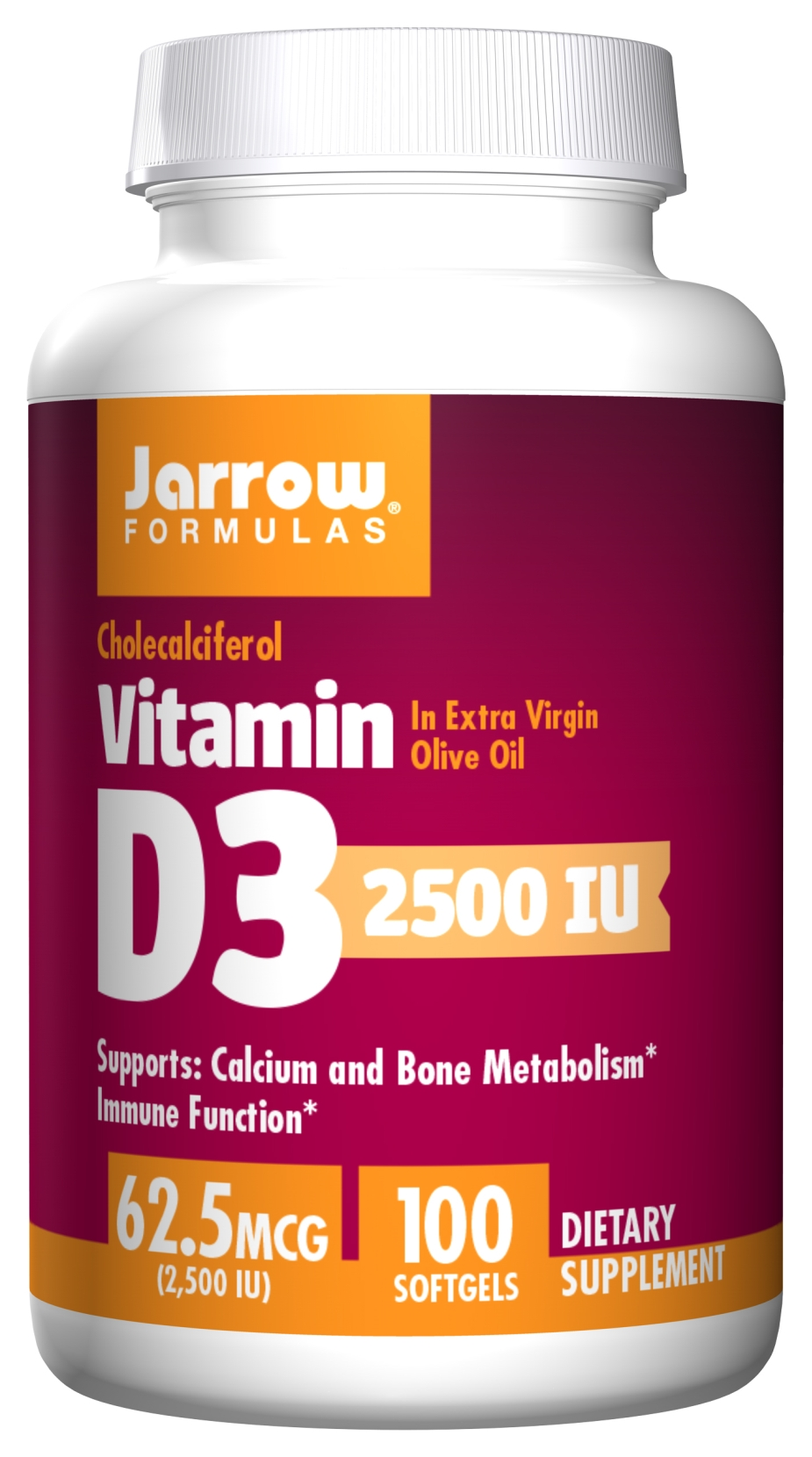 Vitamin D3 2500 IU 100 sgels by Jarrow Formulas