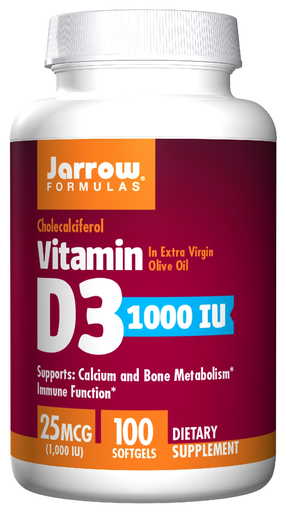 Vitamin D3 1000 IU 100 sgels by Jarrow Formulas