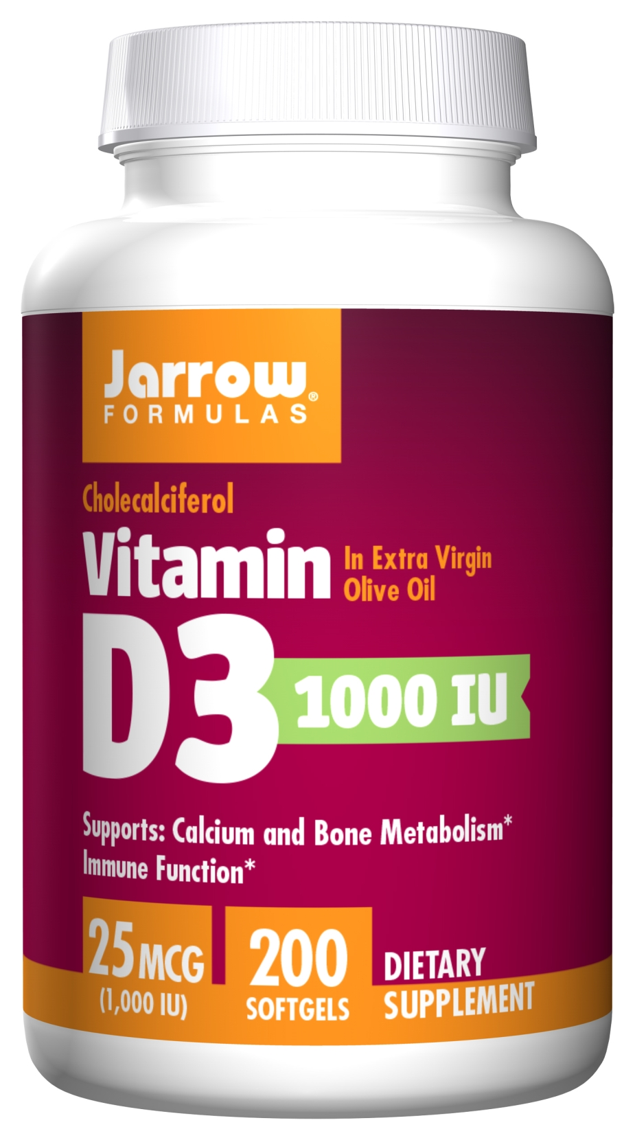 Vitamin D3 1000 IU 200 sgels by Jarrow Formulas