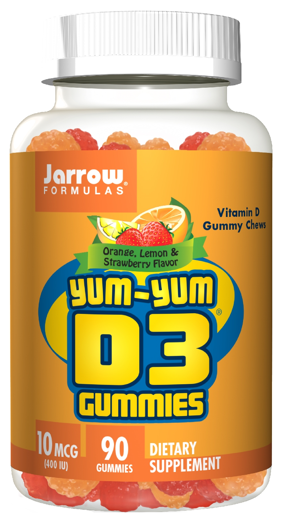 Yum-Yum D3 Gummies 400 IU 90 Chews by Jarrow Formulas (expires 9/2014)