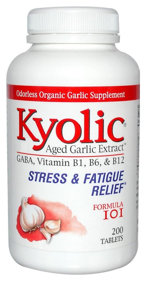Formula 101 Aged Garlic Extract Stress & Fatigue 200 tabs by Kyolic