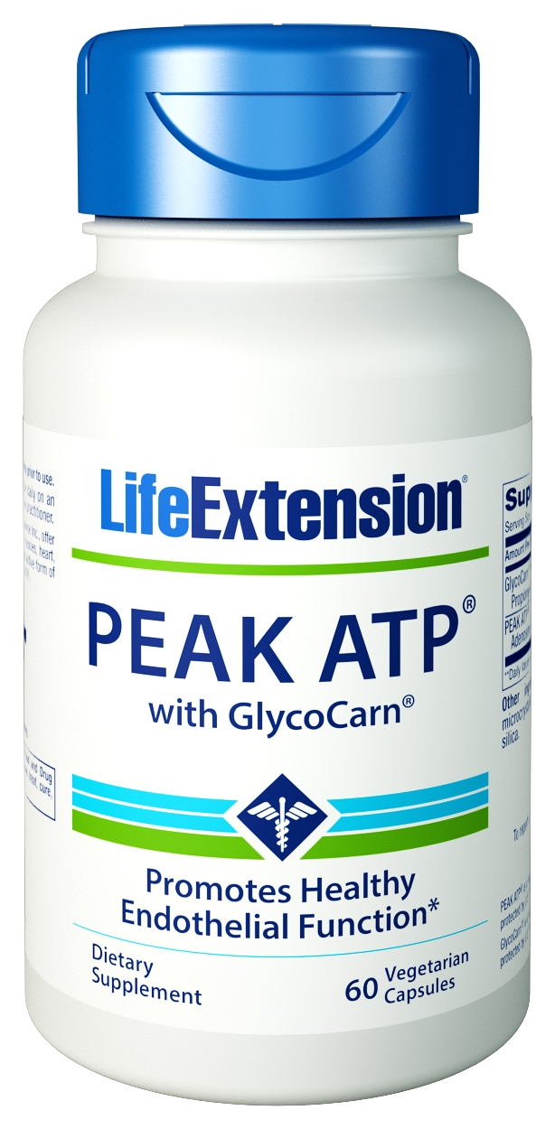 Peak ATP with GlycoCarn 60 Vege Caps by Life Extension