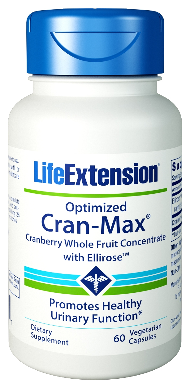 Optimized Cran-Max with UTIRose 60 Vegetarian Caps by Life Extension